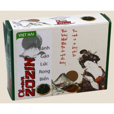 Bánh gạo lứt Zozin rong biển mè đen 125gr-Thế giới đồ gia dụng