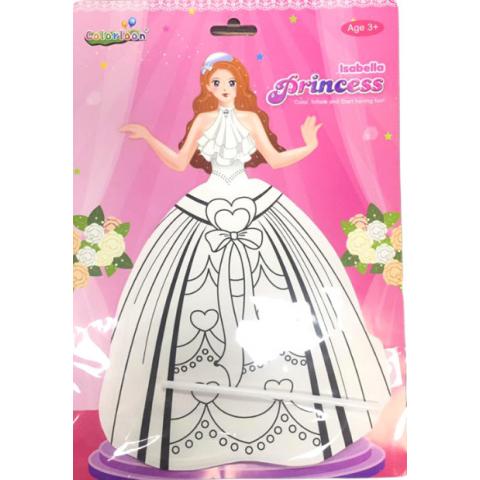 Bong bóng tô màu trang trí hình công chúa - Isabella-Thế giới