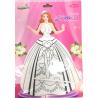 Bong bóng tô màu trang trí hình công chúa - Isabella