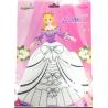 Bong bóng tô màu trang trí hình công chúa - Julia