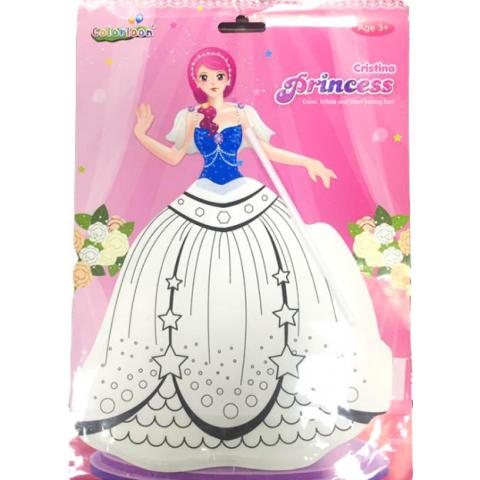 Bong bóng tô màu trang trí hình công chúa- Christina-Thế giới
