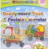 Bong bóng tô màu trang trí hình xe tải + xe cẩu