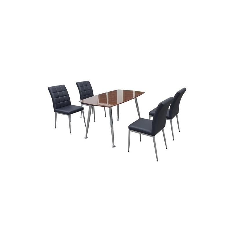 Bộ bàn ghế ăn B68 Veneer, G68-Thế giới đồ gia dụng HMD
