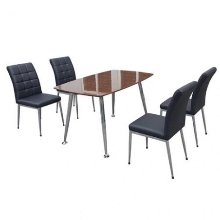 Bộ bàn ghế ăn B68 Veneer, G68
