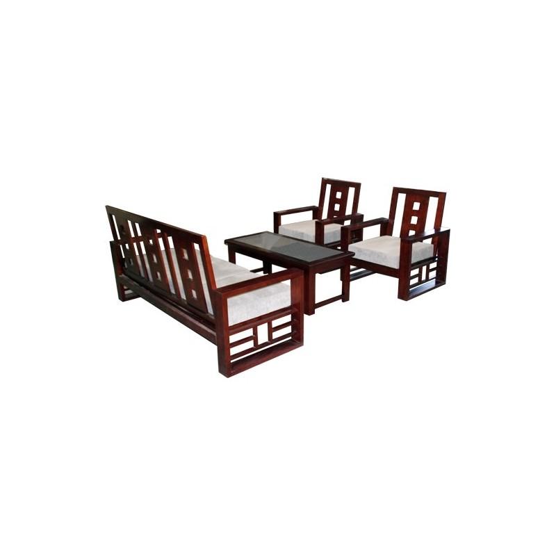 Bộ sofa gỗ tự nhiên SF72-Thế giới đồ gia dụng HMD