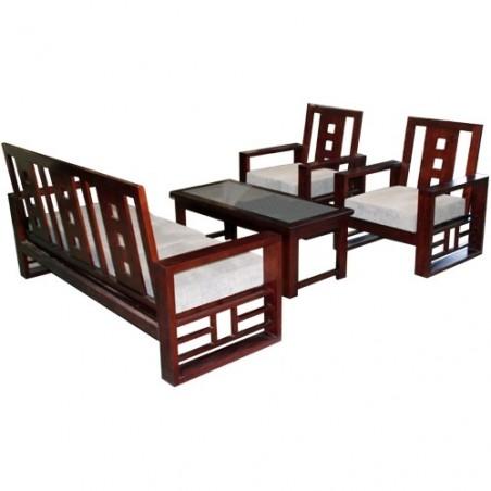 Bộ sofa gỗ tự nhiên SF72