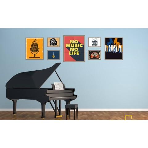 Bộ 7 Tranh No Music No Live-Thế giới đồ gia dụng HMD