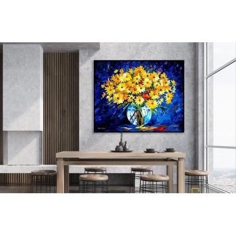 Tranh Hoa Cúc Vàng Phong Cách Sơn Dầu-Thế giới đồ gia dụng HMD
