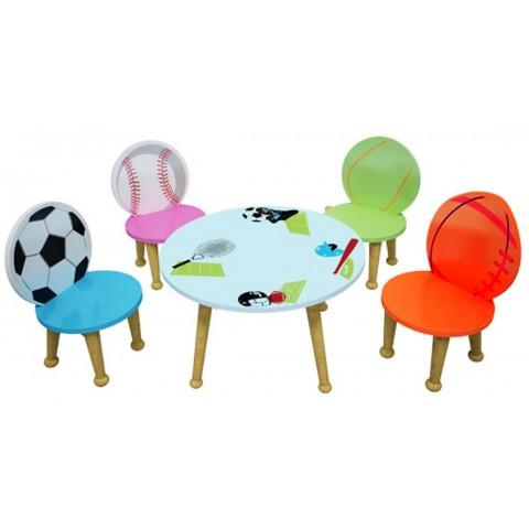 Bộ bàn ghé trẻ em thể thao-Thế giới đồ gia dụng HMD