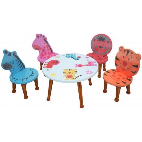 Bộ bàn ghế trẻ em thú rừng-Thế giới đồ gia dụng HMD