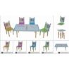 Bộ bàn ghế trẻ em bút chì-Thế giới đồ gia dụng HMD