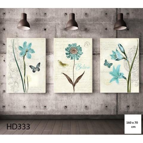 Bộ 3 Tranh Hoa Yêu Bướm-Thế giới đồ gia dụng HMD