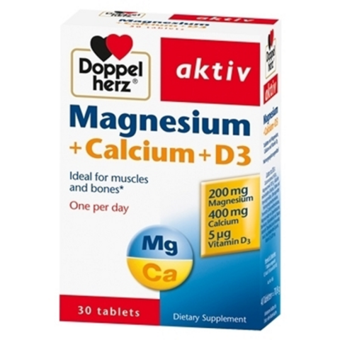 Magnesium+Calcium+D3 Doppel Herz-Thế giới đồ gia dụng HMD