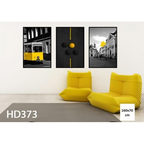 Bộ 3 Tranh City With Yellow-Thế giới đồ gia dụng HMD