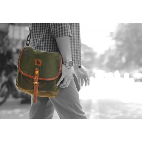 Túi đeo chéo Rock da Mood -Simple color-Thế giới đồ gia dụng