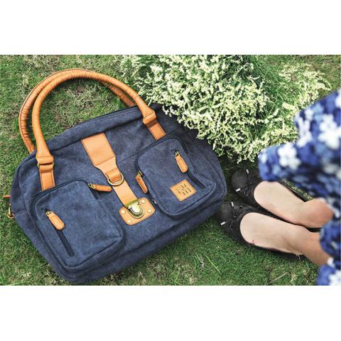 Túi xách Rock da Mood -Snow flower-Thế giới đồ gia dụng HMD