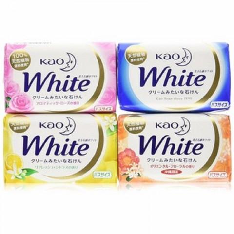 Bánh xà phòng tắm KAO white 130g Nhật-Thế giới đồ gia dụng HMD