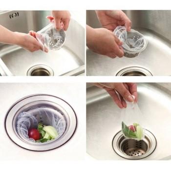 COMBO 100 túi lọc rác bồn rửa chén-Thế giới đồ gia dụng HMD