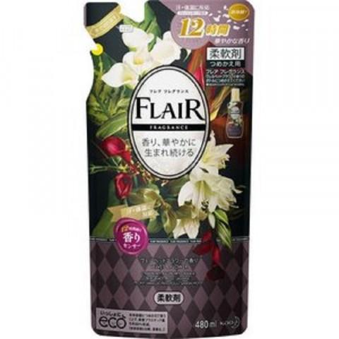 Gói nước xả mềm vải Flair KAO Hương thơm mềm mại 480ml-Thế giới