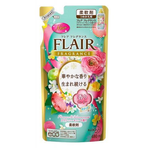 Gói nước xả mềm vải Flair KAO hương hoa (màu xanh - mùi mát)