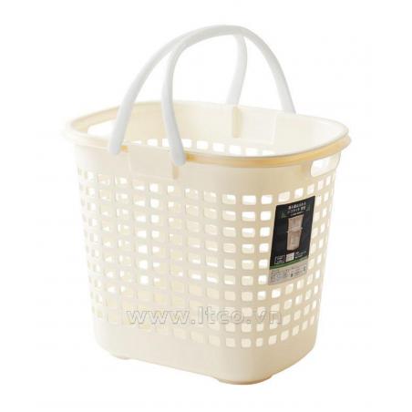 Giỏ đựng quần áo màu trắng-Thế giới đồ gia dụng HMD