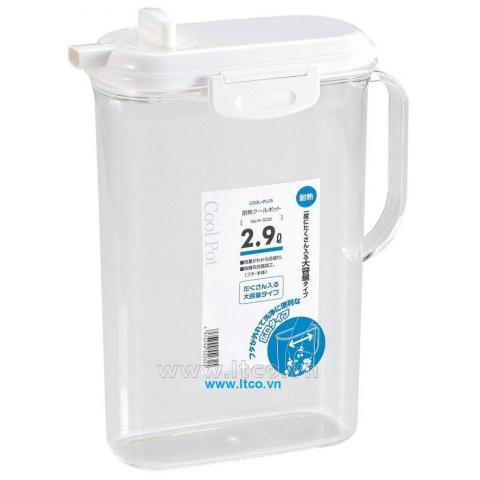 Bình nước nhựa trong có khóa vòi 2,9 lít-Thế giới đồ gia dụng