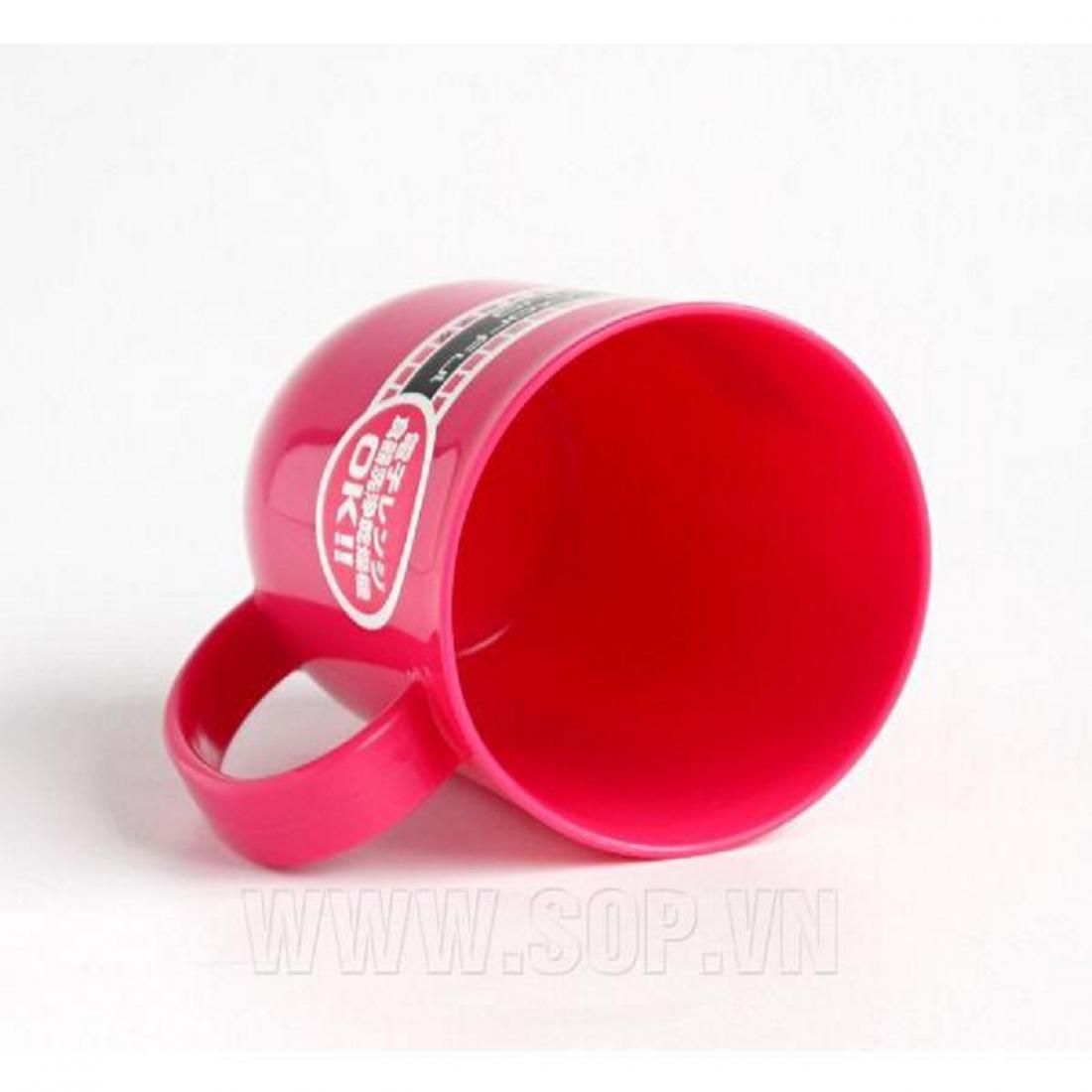 Cốc có quai không nắp 300ml - Màu hồng-Thế giới đồ gia dụng HMD