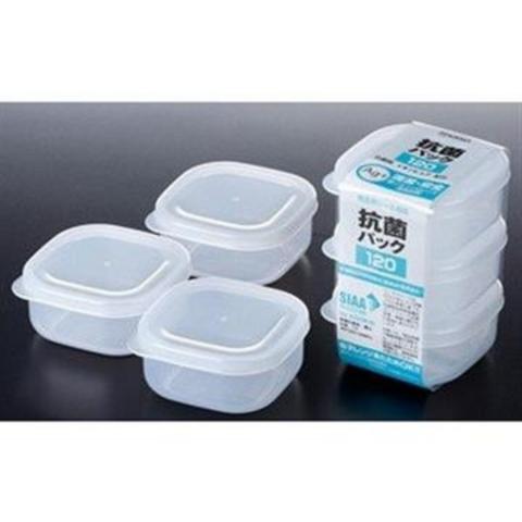 Bộ 3 hộp thực phẩm vuông, nắp mềm 120ml-Thế giới đồ gia dụng HMD