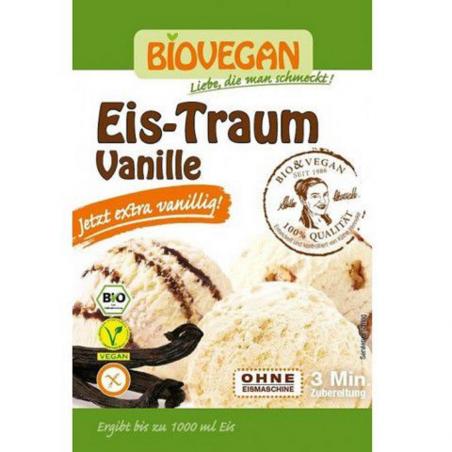 Bột làm kem vani hữu cơ Biovegan (77g)