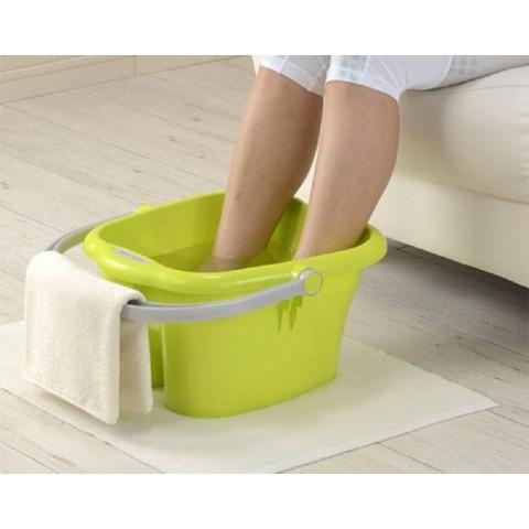 Chậu nhựa ngâm chân 13L - Màu xanh-Thế giới đồ gia dụng HMD