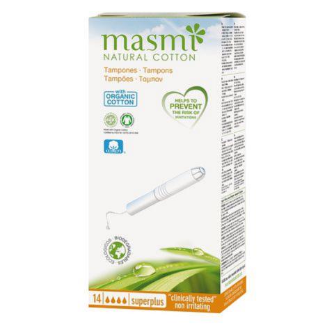 Tampon có cần đẩy 4 giọt hữu cơ Masmi (14m)-Thế giới đồ gia