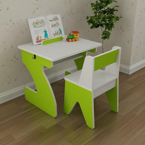 Bàn ghế trẻ em Yamada Kids BH02 - Xanh lá-Thế giới đồ gia dụng