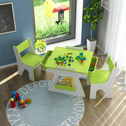 Bàn ghế trẻ em Yamada Kids BH06 - Xanh lá-Thế giới đồ gia dụng