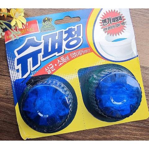Viên thả bồn cầu diệt khuẩn, khử mùi hôi - vỉ 2 viên 80g-Thế