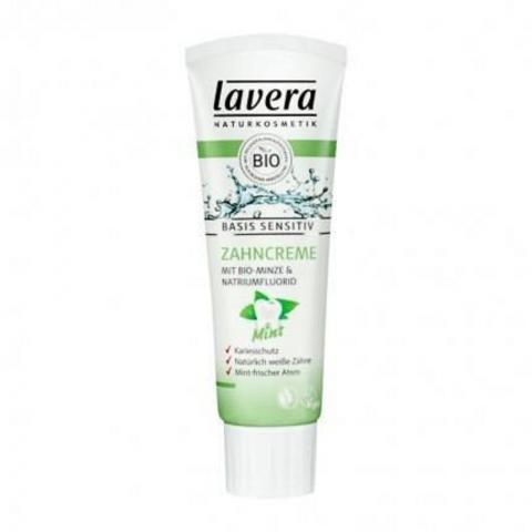 Kem đánh răng người lớn bạc hà hữu cơ Lavera (75ml)-Thế giới đồ