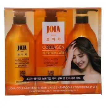 Bộ dầu gội, xả Hàn Quốc Joia Collagen chăm sóc tóc hư tổn-Thế