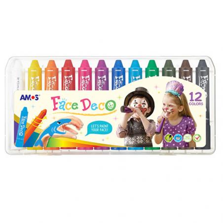 Bộ 12 bút sáp màu vẽ mặt hóa trang-Thế giới đồ gia dụng