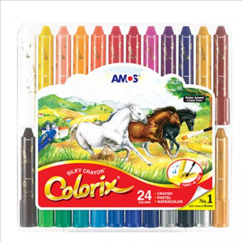 Bộ bút sáp 3 trong 1 -24 màu-Thế giới đồ gia dụng HMD