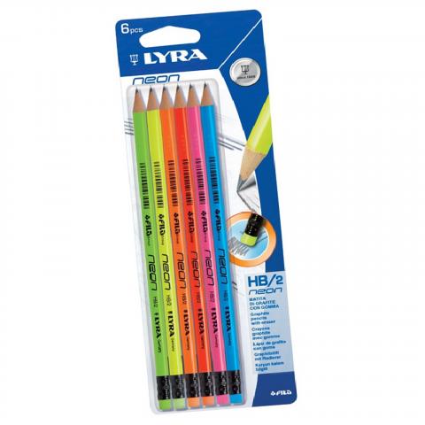 Vỉ 06 bút chì lyra neon-Thế giới đồ gia dụng HMD