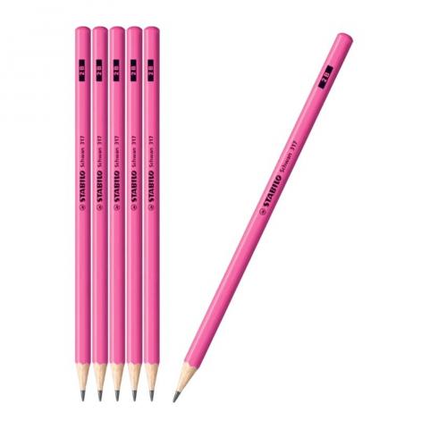 Bút chì gỗ neon hồng-Thế giới đồ gia dụng HMD