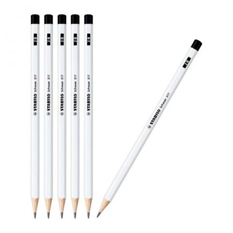 Bút chì gỗ neon trắng-Thế giới đồ gia dụng HMD