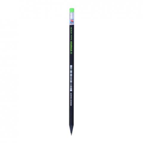 Bút chi Black 2 B,thân đen,đầu gôm-Thế giới đồ gia dụng HMD