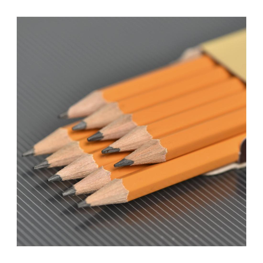 Bút chì gỗ 2 B đen không gôm (12 cây /hộp )-Thế giới đồ gia