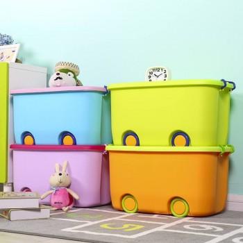 Thùng đựng đồ chơi bánh xe, loại to-Thế giới đồ gia dụng HMD