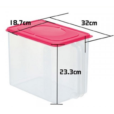 Hộp đa năng có tay cầm 8L - Màu hồng-Thế giới đồ gia dụng HMD