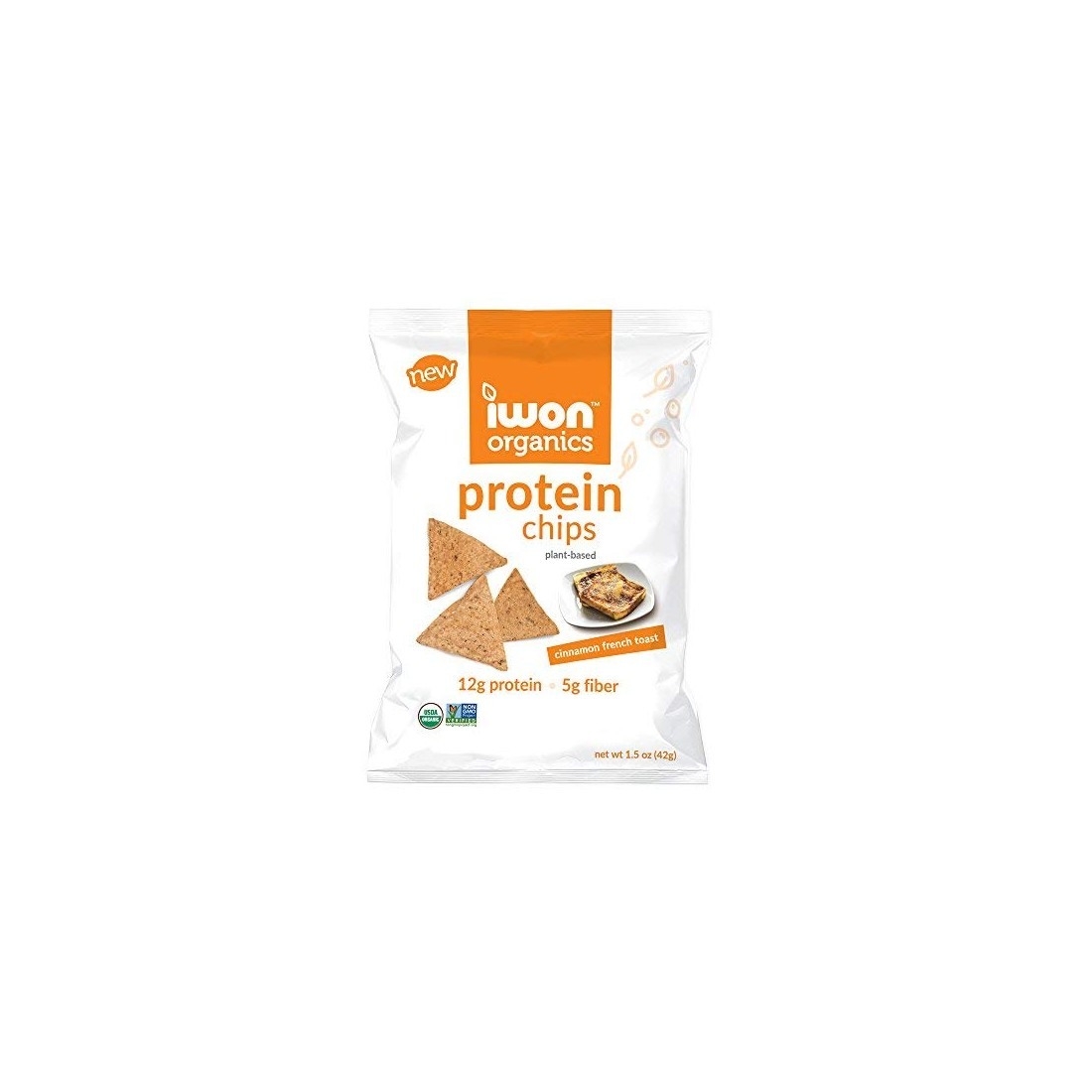 Snack bổ sung protein hữu cơ Iwon (42g) vị quế-Thế giới đồ gia