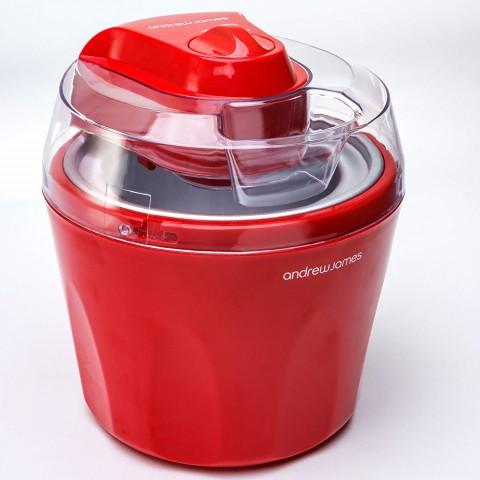 Máy làm kem Andrew James 1,45L, Đỏ-Thế giới đồ gia dụng HMD