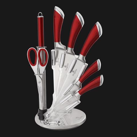 Bộ dao kéo nhà bếp 8 món Berlinger Haus - Màu đỏ-Thế giới đồ