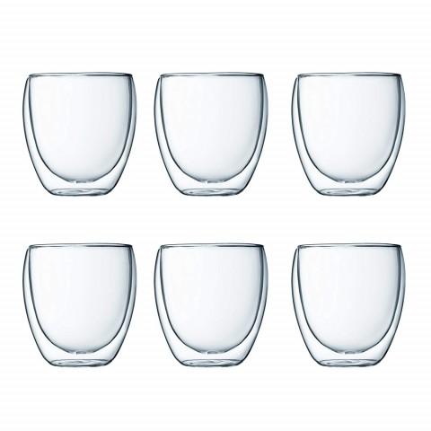 Bộ cốc thủy tinh 2 lớp cách nhiệt Bodum-Pavina (6 chiếc)