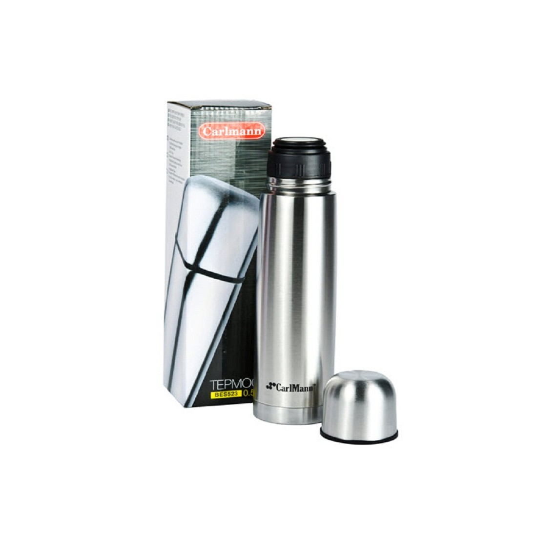 Bình giữ nhiệt inox CarLMann 500ML BES523-Thế giới đồ gia dụng